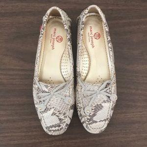 Marc Joseph size 6.5/EU 37 faux snake skin loafers